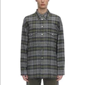 Faith Connexion Gray Laced Tweed Oversized Shirt